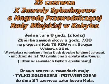X Zawody Spinningowe o Nagrodę Przewodniczącej Miasta Kobyłka