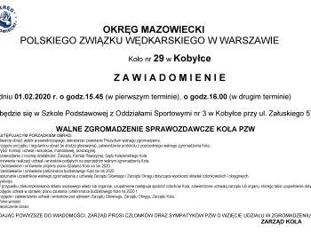 Walne Zebranie Sprawozdawcze Koła 29 PZW w Kobyłce